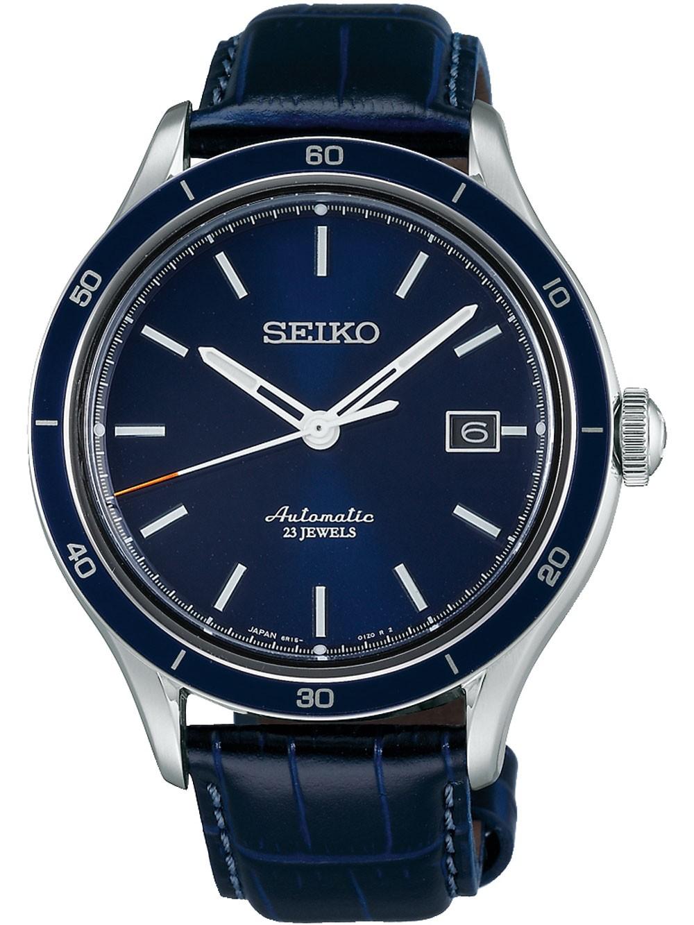 Seiko SARG015J Automatik 42mm blau Leder 100M