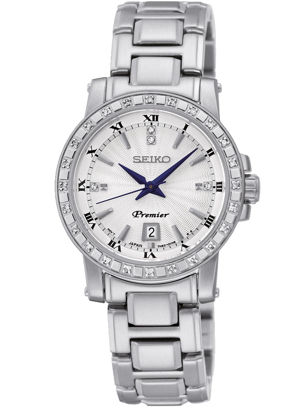 Seiko SXDG57P1 Premier Diamant Damen 28mm 10ATM