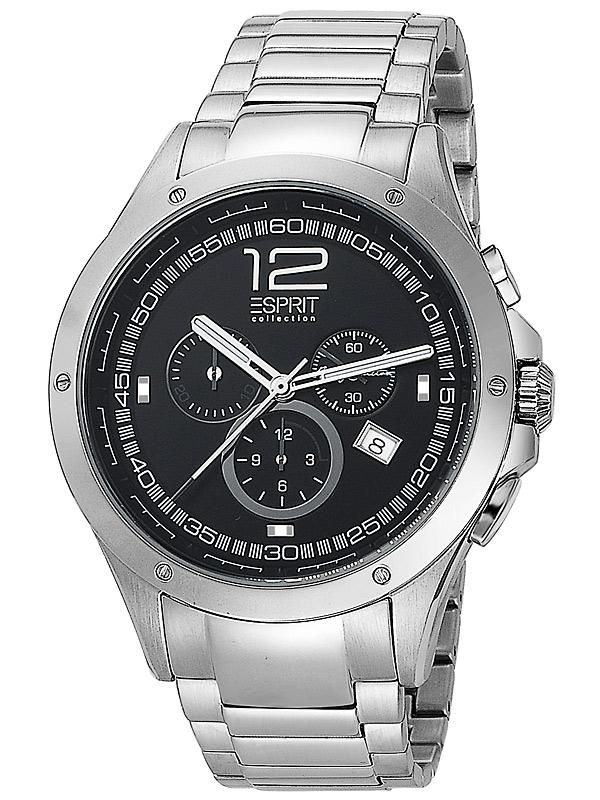 Esprit Colectia EL101421F06 Atropos Argintiu Negru Ceas Barbatesc