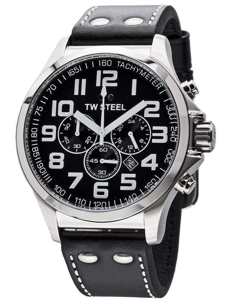 TW-Otel Pilot TW413 Ceas Barbatesc Chronograph 48mm
