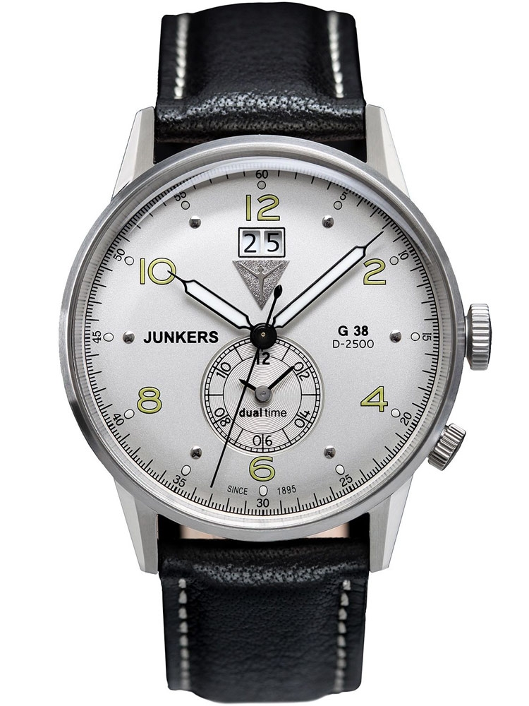 Junkers 6940-4 G38 Dual-Time Barbati 10 ATM 42 mm