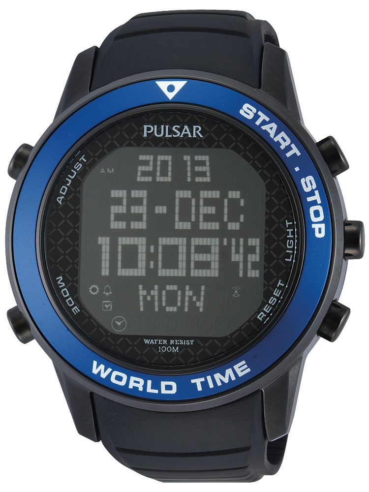 Pulsar PQ2029X1 Digital Worldtimer Chrono 48 mm 100M