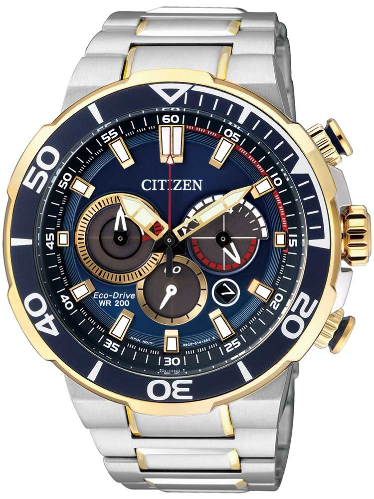 Citizen Eco-Drive Sports CA4254-53L Chronograph 46mm 20ATM