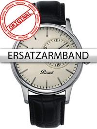 Bossart Universal Ersatzband BW-1004-SW 22 mm schwarz silberne Schließe