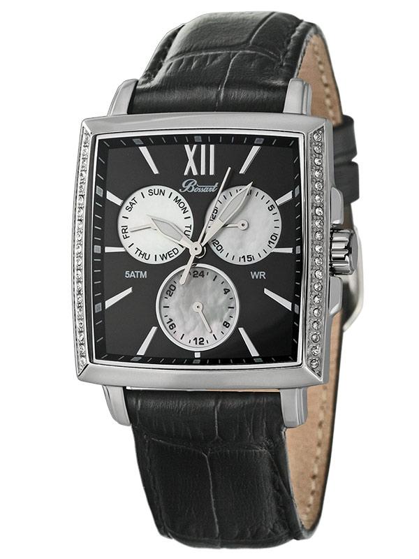 Bossart Ceas de dama Dreptunghiular-Glam BW-1101-W-AS-Sle