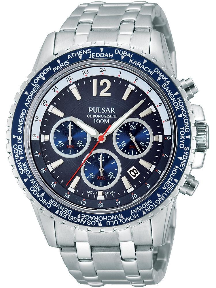 Pulsar PT3579X1 Sportlicher Chronograph 100M 45mm