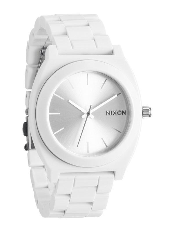 NIXON Time Teller A327-100 Acetate Alb Unisex