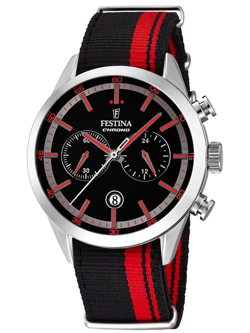 Festina F16827/4 Chronograph Herren 44mm 5ATM