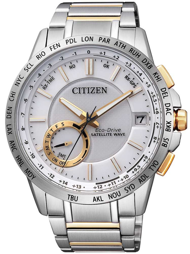 Citizen Eco-Drive Satellite Wave Elegant CC3004-53E Herren 44mm 10ATM