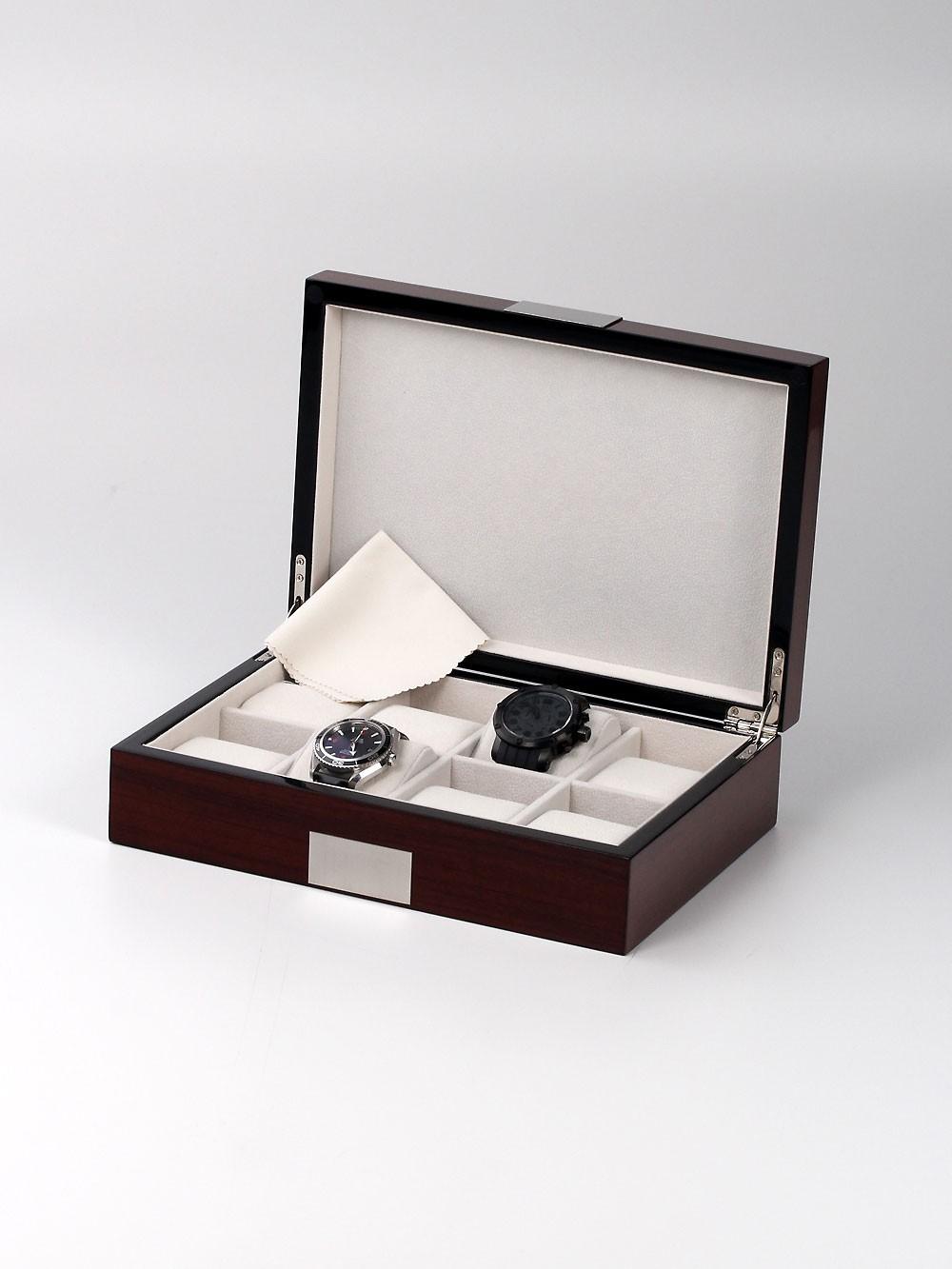 Rothenschild Uhrenbox RS-2022-8RO fu00FCr 8 Uhren rosewood