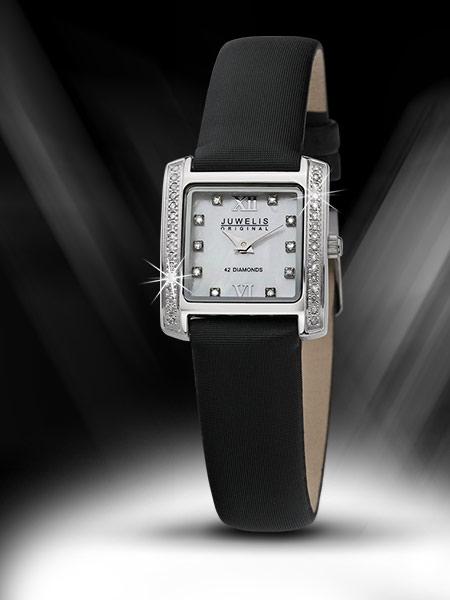 Juwelis Elevo Diamond Ceas De Dama 0.21 Ct Jw-s6005l-bktx
