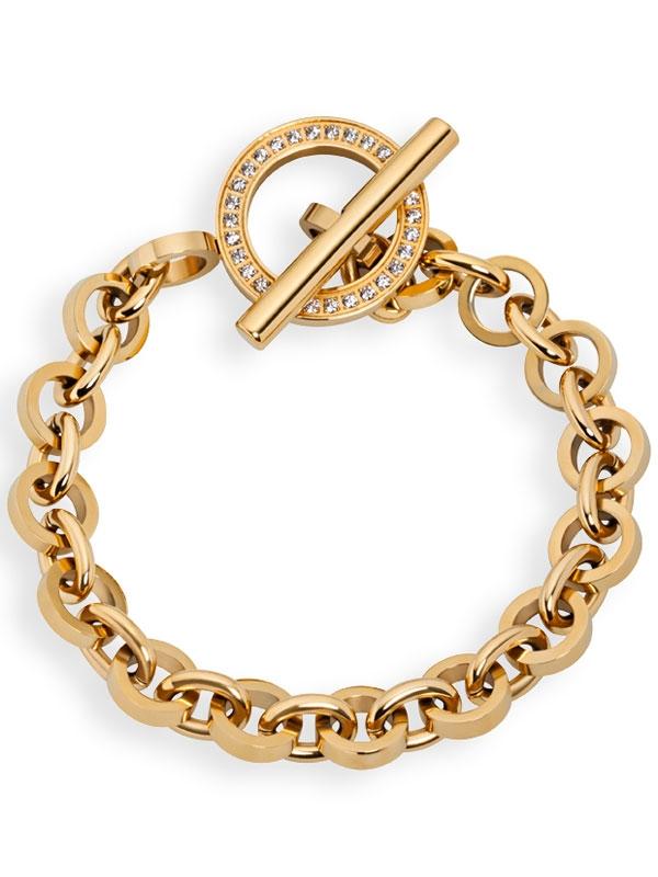 Tamaris Lisa Armband A00431010 PVD gold T-Verschluss 19cm