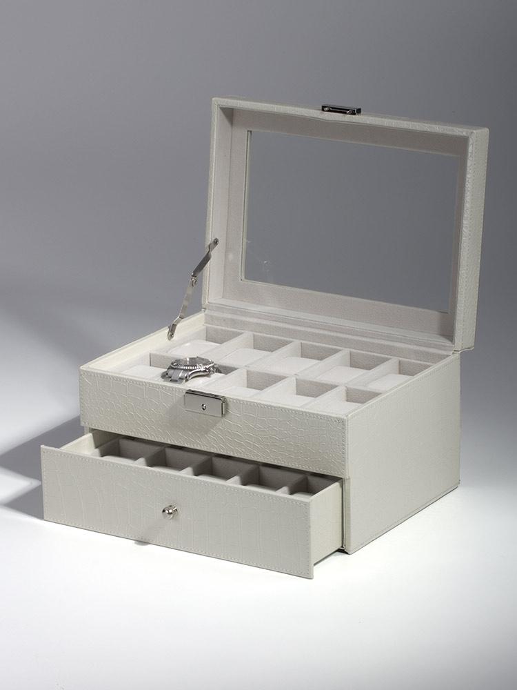 Rothenschild Ceas cutie RS-1683-20W pentru 20 Ceasuri alb