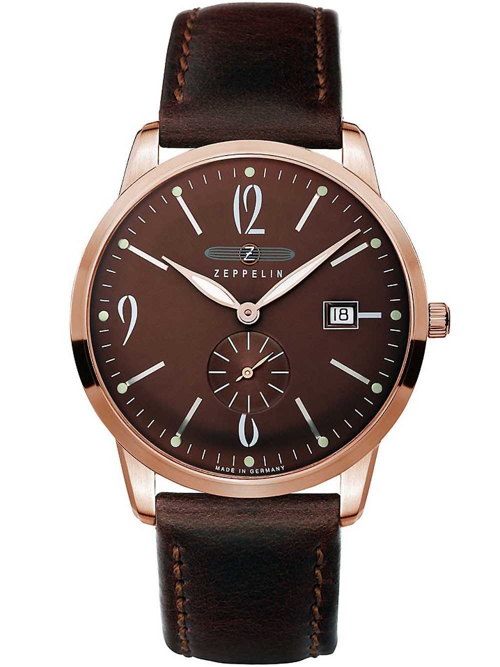 Zeppelin 7336-5 Flatline Swiss Movt. Herren 39 mm 3ATM
