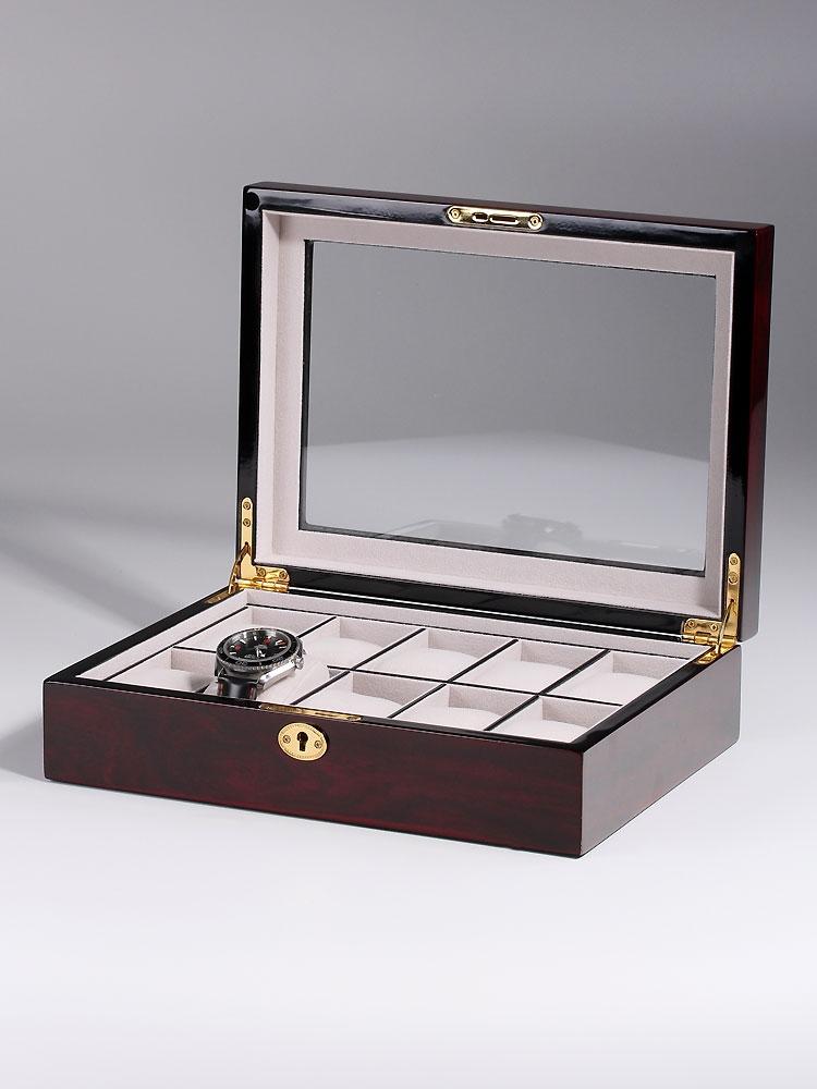 Rothenschild Ceas cutie RS-2031-DC pentru 10 Ceasuri inchis cires