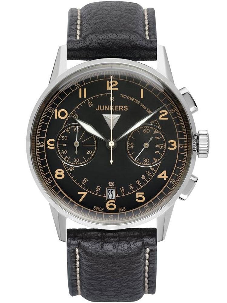 Junkers G38 Chronograph 6970-5 schwarz 42 mm 10 ATM