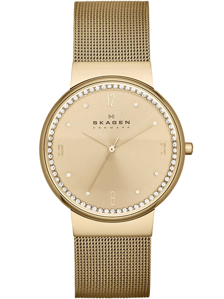 watches chrono12 skagen skw2129 damenuhr gold 34 mm