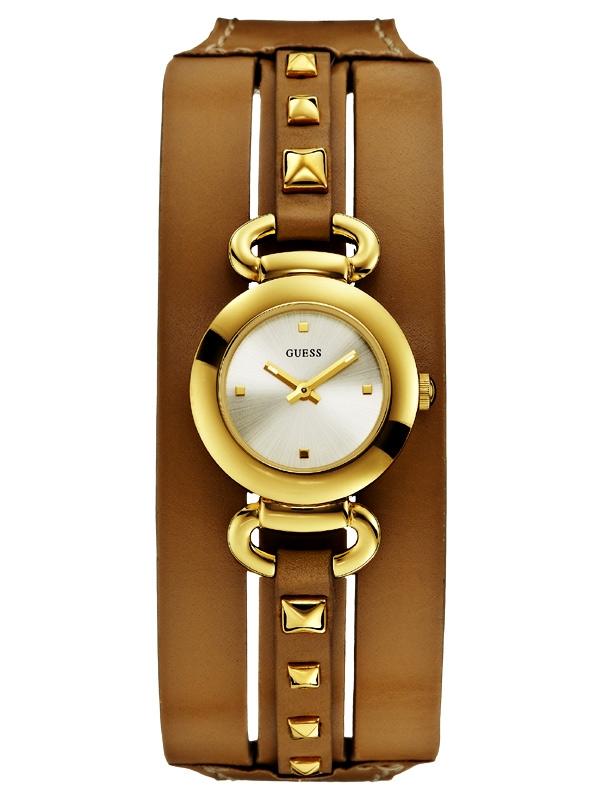 Guess Punky W0160L4 auriu Ceas de dama cu maro Fashion-Curea