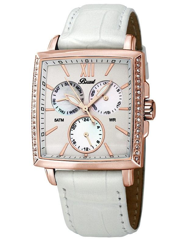Bossart Ceas de dama Dreptunghiular-Glam BW-1101-W-IR-Wle