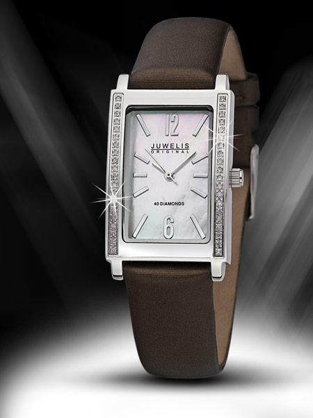 Juwelis Magna Diamond Ceas de dama 0.2 ct JW-S2747L-BRTX