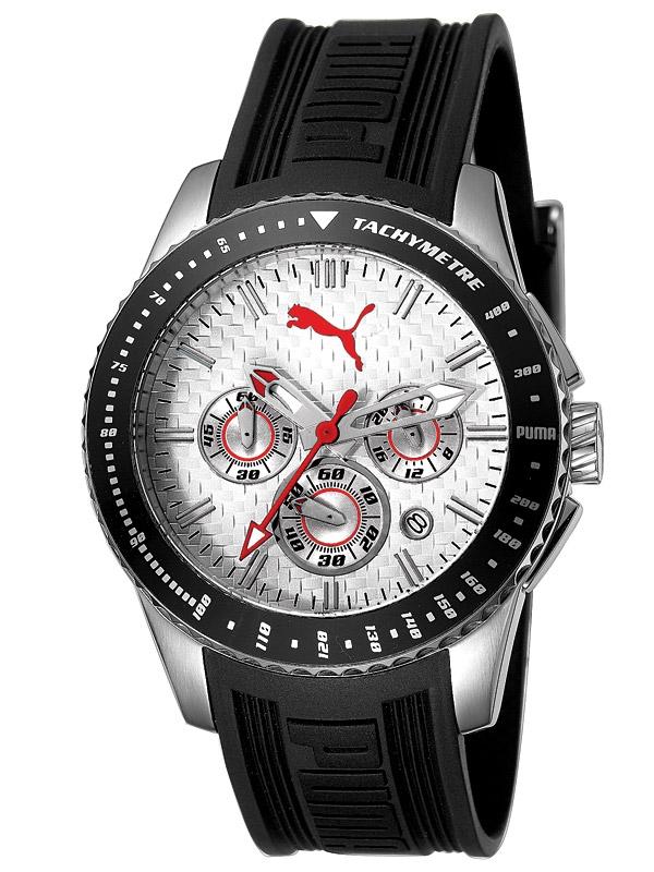 Puma Racer Argintiu Alb PU102311004 Ceas Barbatesc Chronograph