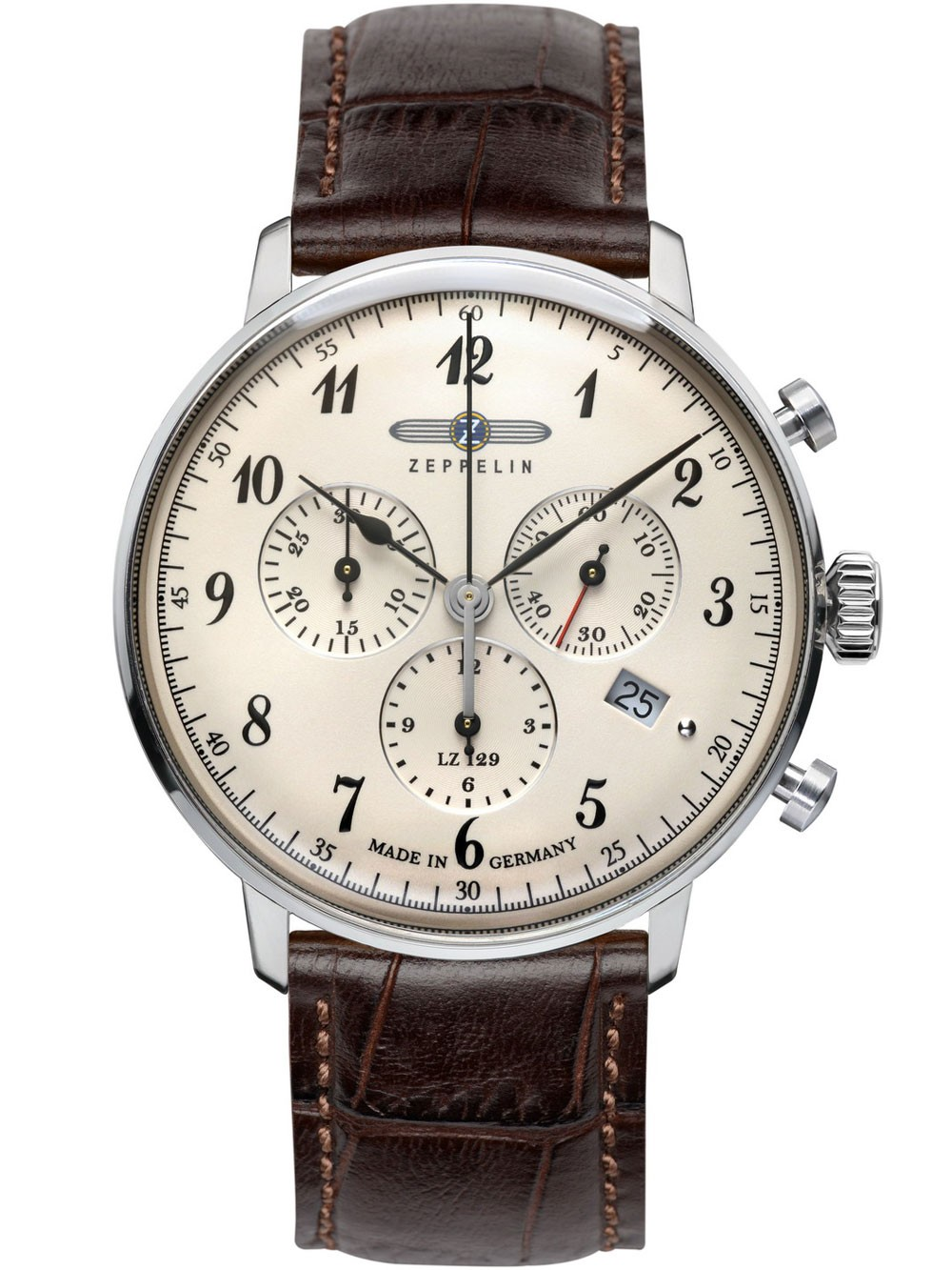Zeppelin Hindenburg Chrono 7086-4 Herrenuhr 40 mm