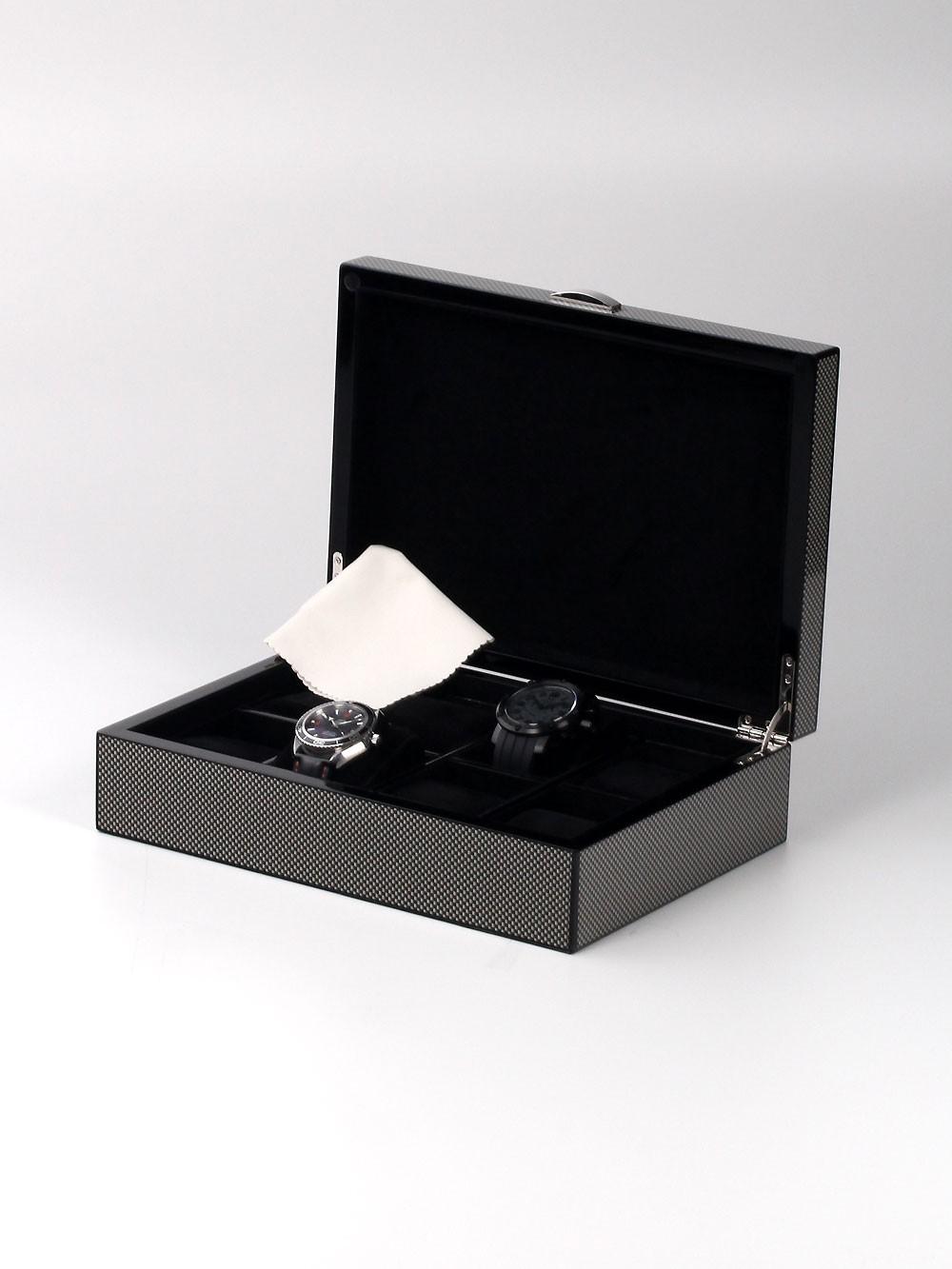 Rothenschild Uhrenbox RS-2235-8CA fu00FCr 8 Uhren carbon
