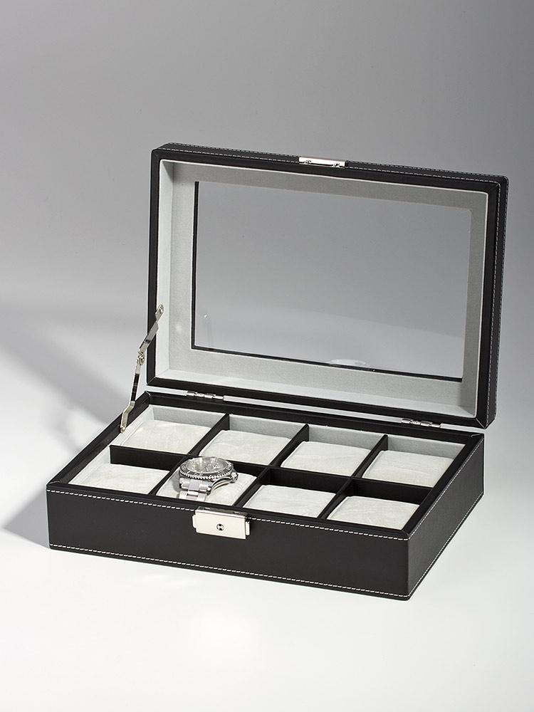Rothenschild Ceas cutie RS-3361-8BL pentru 8 Ceasuri negru