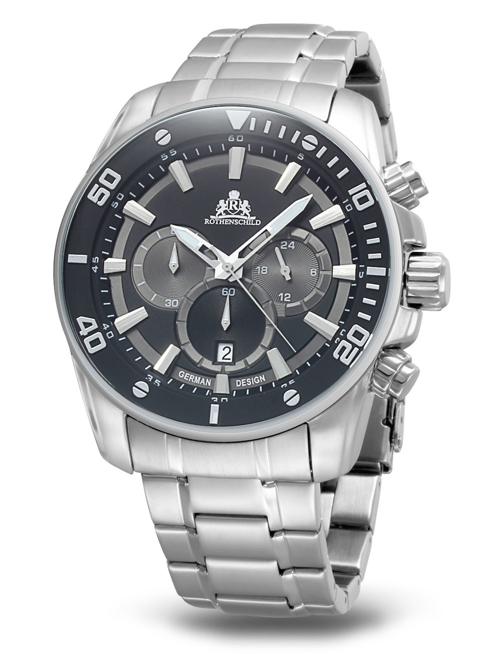 Rothenschild Steam RS-1403-AS-BK Chrono grey 47 mm 100M