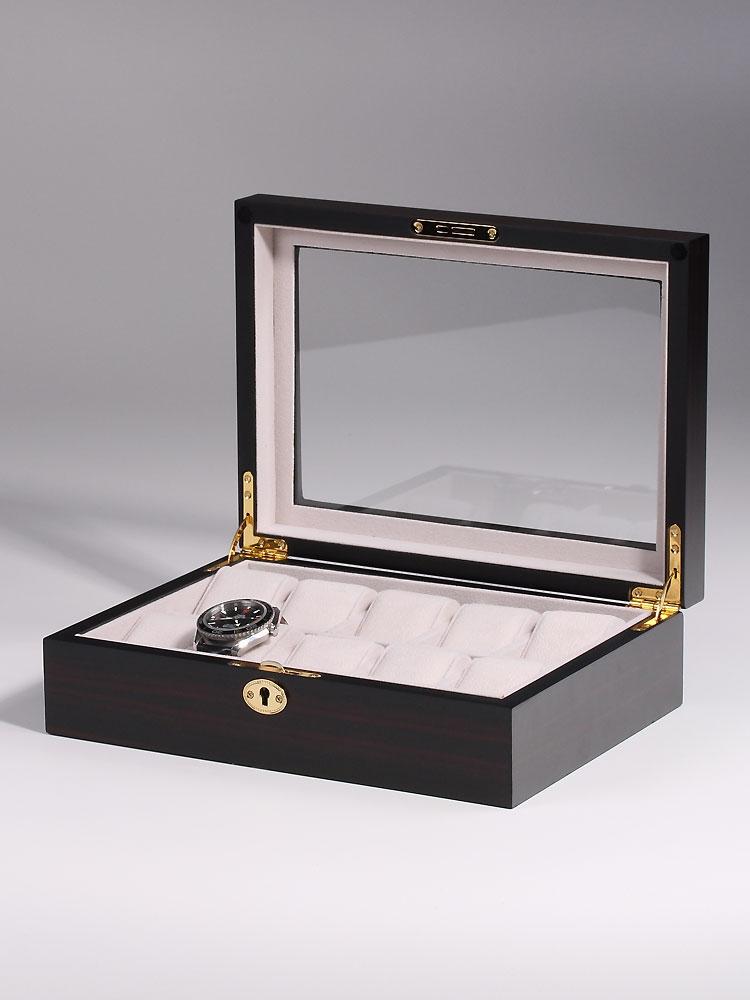 Rothenschild Ceas cutie RS-1671-E pentru 10 Ceasuri abanos