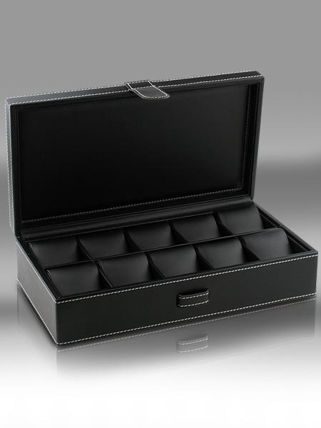 Uhren Sammlerbox für 10 Uhren in Leder
