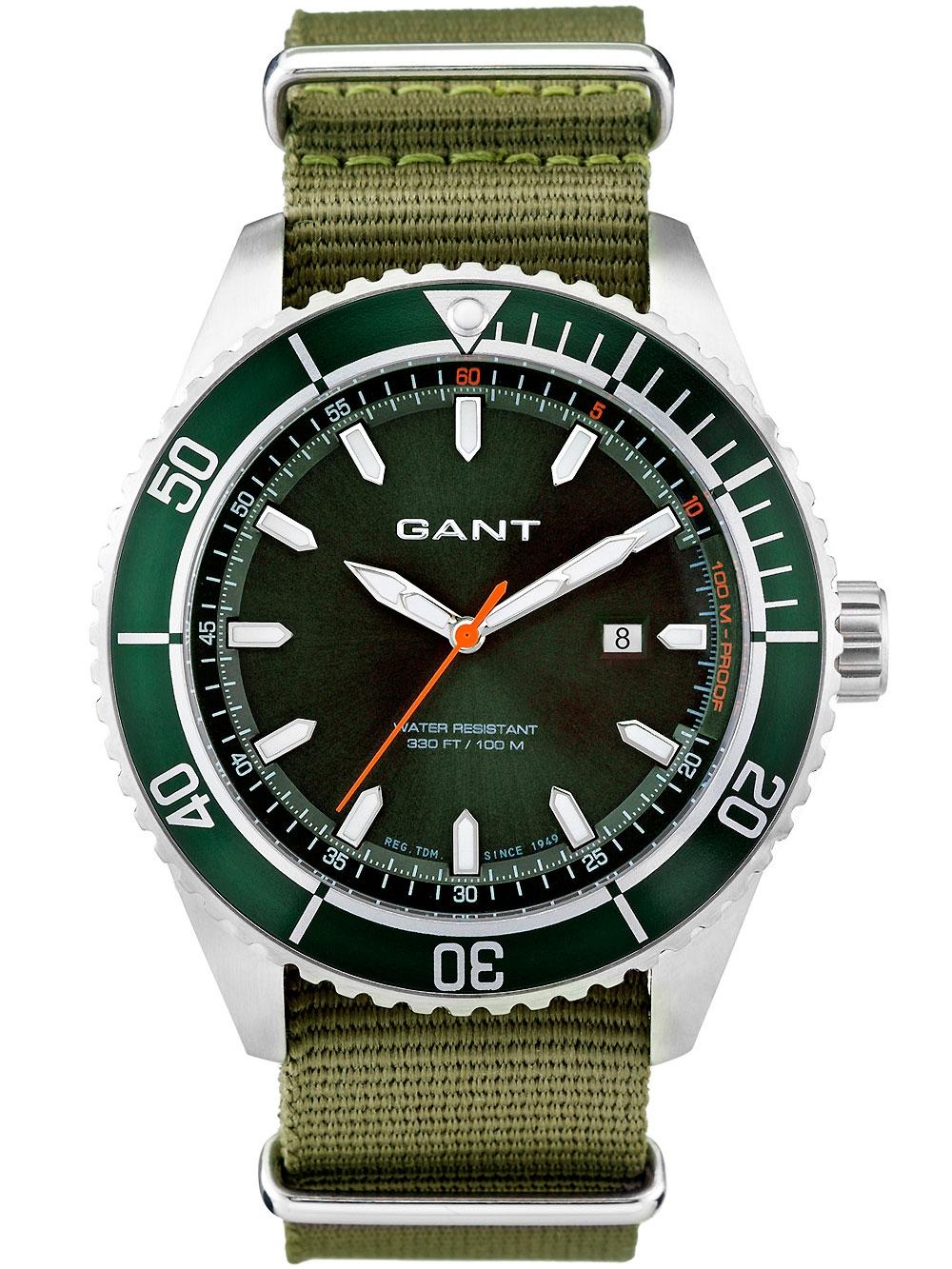 Gant Seabrook Military W70634 grün Herren 45 mm 10 ATM
