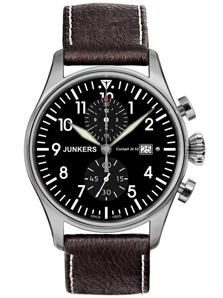 Junkers Cockpit Ju 52 6178-2 Ceas Barbatesc Chronograph Titanium