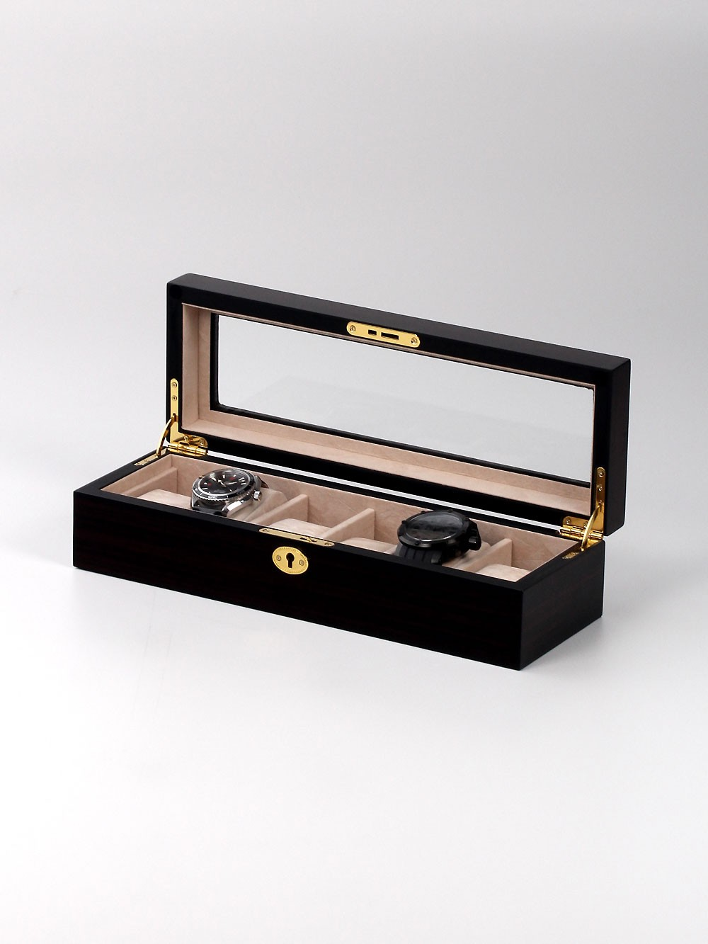 Rothenschild Uhrenbox RS-1670-6E fu00FCr 6 Uhren brown