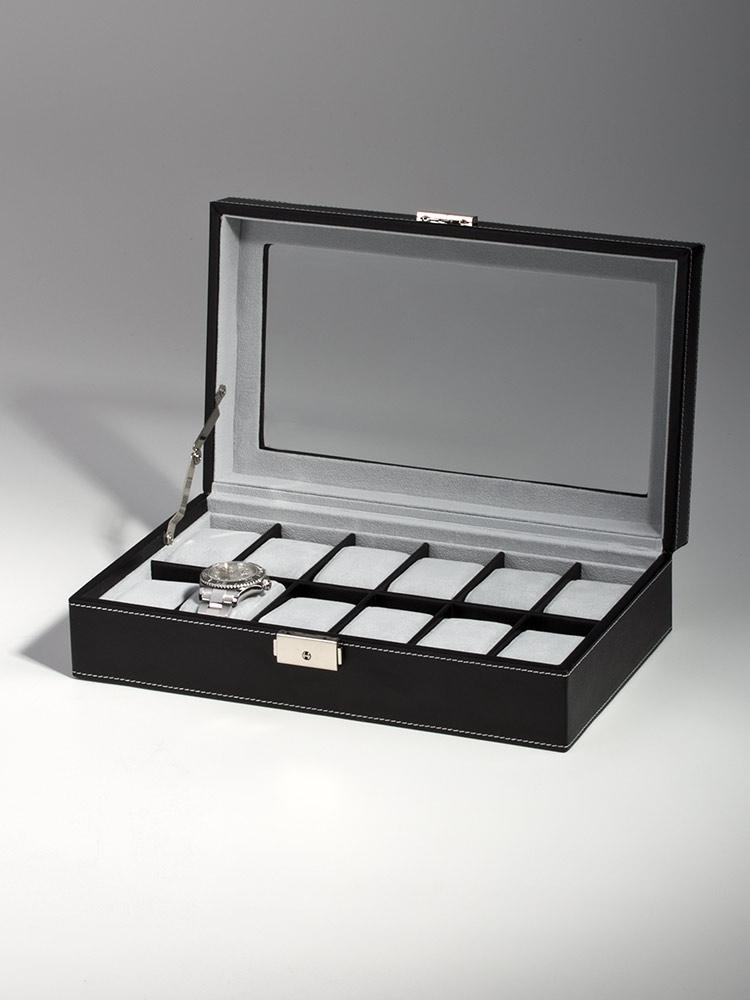 Rothenschild Ceas cutie RS-1098-12BL pentru 12 Ceasuri negru