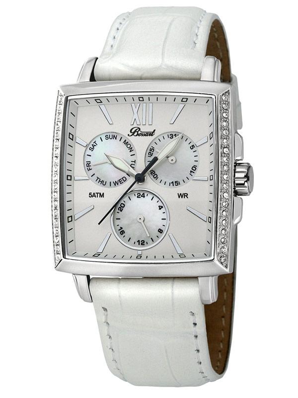 Bossart Ceas de dama Dreptunghiular-Glam BW-1101-W-AS-Wle