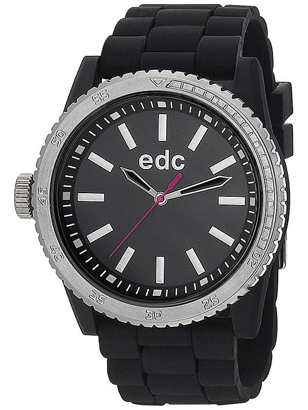 edc by Esprit EE100922002 Rubber Starlet Midnight Negru Ceas de dama