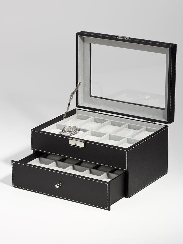 Rothenschild Ceas cutie RS-1683-20BL pentru 20 Ceasuri negru