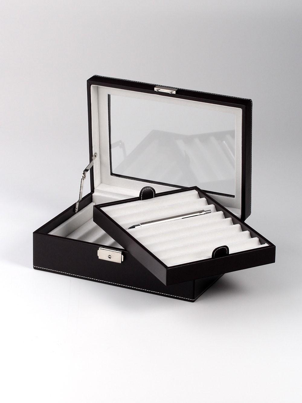 Rothenschild Sammlerbox RS-3011-16DBR 16 Fächer black