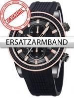 Ceas: Curea de ceas Perigaum Silikon P-1312 schwarz schwarze Schliesse