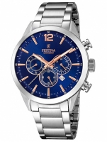 Ceas: Ceas barbatesc Festina F20343/9 Timeless Cronograf 43mm 10ATM
