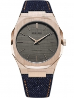 Ceas: Ceas barbatesc D1 Milano UTDJ03 Western Ultra Thin Denim 40 mm 5ATM