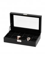 Ceas: Rothenschild Uhrenbox RS-1098-12CFBL für 12 Uhren schwarz