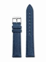 Ceas: Cluse Ersatzband CLS031 [18 mm] blau m. silber Schließe