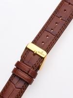 Ceas: Curea de ceas Uhren20 x 185 mm braun goldene Schliesse