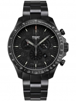 Ceas: Ceas barbatesc Traser H3 109466 P67 Officer Cronograf Black Steel 46mm 10ATM