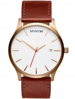 Ceas: Ceas barbatesc MVMT MM01-WBR Classic Rose Gold Natural 45mm 3ATM