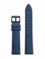 Ceas: Cluse Ersatzband CLS053 [18 mm] blau m. schwarz Schließe