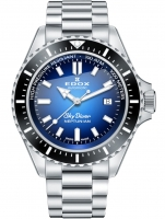 Ceas: Edox 80120-3NM-BUIDN Skydiver Neptunian automatic 44mm 100ATM