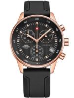 Ceas: Ceas barbatesc Swiss Military SM30052.07 Cronograf roségold 40mm 5ATM